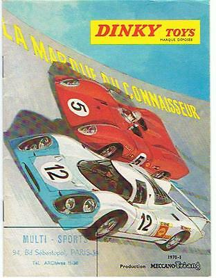 KDT KATALOG CATALOGUE DINKY TOYS FRANCE 1970/1, grösser DIN A6 +++ very good !
