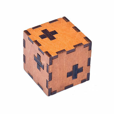 Wooden Box 3D Puzzle Intelligence Toys Kongming Lock Brain Teaser Cube Toy PF