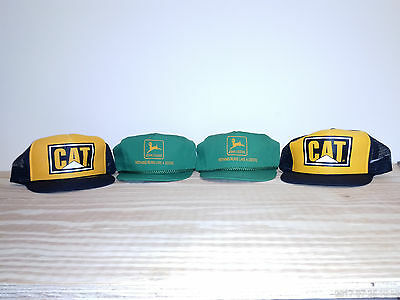 CAT and John Deere baseball style caps
