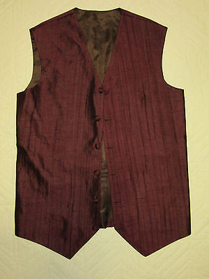 MENS  Victorian Edwardian Sherlock Holmes Dickens black poly  VEST size S 35