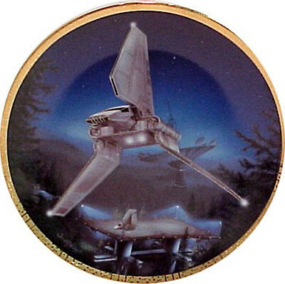 Star Wars Imperial Shuttle Space Vehicles Series Ceramic Plate 1996 COA and BOX