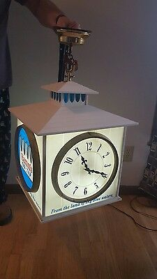 (VTG) 1960s HAMM'S BEER GIANT SPINNING MOTION MOVING COACH LIGHT UP SIGN RARE