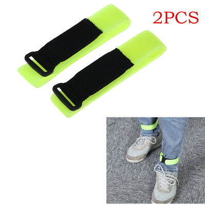 2pcs Reflective Ankle Bands Cycling Jogging Fluorescence Feet Belt Safety Night