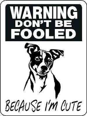 JACK RUSSELL TERRIER GUARD DOG Alum. Sign Decal 3361