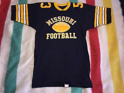 Vintage 70's Russell Deadstock University Of Missouri Tigers Jersey LG NOS #53