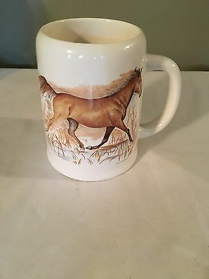 Vtg Enesco 1983 Horse Mug,  Intercontinental Greetings,