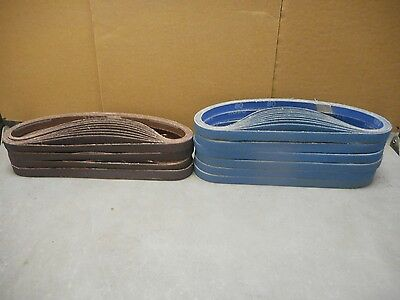 """100 Norton Norzon and Metalite 1/2"""" X 24"""" Belts.  60; 80; & 120 Grit SHIPS FREE!"""