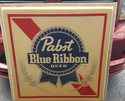 (Vtg) Pabst Beer Outdoor Plastic Bubble Light Up Sign Bar Pub Milwaukee Rare