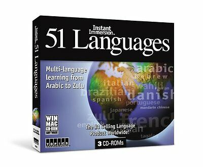 Instant Immersion 51 Languages for PC, Mac - *New,Sealed*