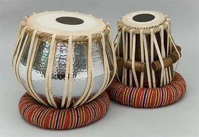 Indian Tabla Dugga Set Drum Copper 3.5 Kg Bayan~Shesham Wood Dayan Duff Dholak