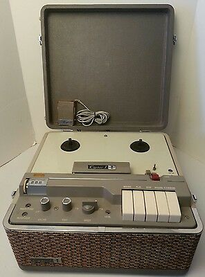 Rare Vintage Cipher I -Inter-Mark 5320- Reel To Reel Tape Recorder -W Mic- Japan
