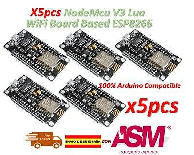 5pcs NodeMcu V3 Lua WiFi Wireless Module CH340 Development Board ESP8266 ESP12E
