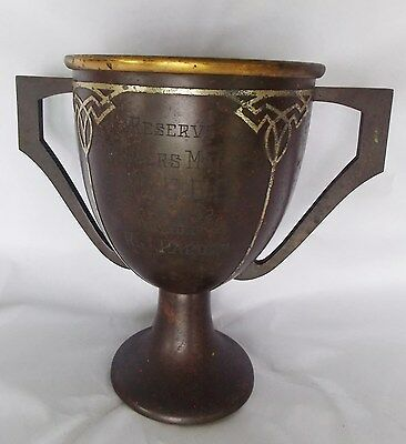 "Fine Heintz Art Metal Sterling on Bronze Trophy ""Winner Male G.C.C.C.C, 1932"""