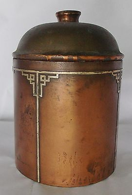 Fine Heintz Art Metal Sterling on Bronze Humidor with Cover