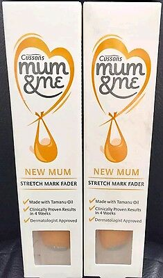 Brand new 2×Stretch Mark Fader Cussons Mum&Me Clinically results in 4 Weeks 70ml
