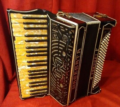 Vintage Pre-War Piano Accordion Macerata Trevoci LMMM 41/120 FOR PARTS OR REPAIR