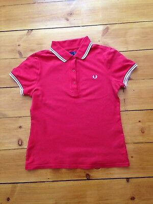 red fred perry Ladies Size 10