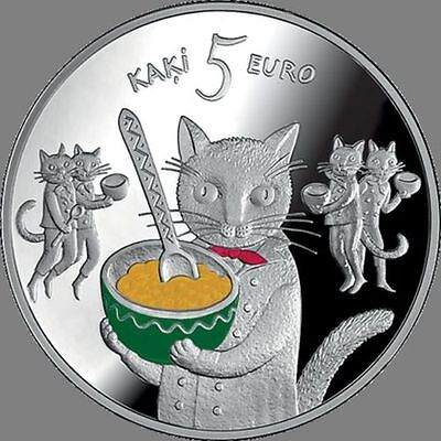 Latvia 2015 Five Cats Fairy Tale Coin Series Silver Proof COA 5€ 6-page Brochure