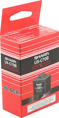 Sharp UX-C70B Black Single Unit Ink Cartridge Oem Bag