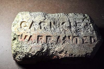 "Antique Foreign Early  Fire Brick  ""garnkirk  Warranted"" Other Side Patent"""