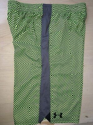 NWT Boys Under Armour Fuel Green Black Patterned Shorts Youth Medium YMD Loose