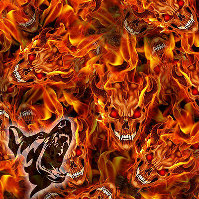 Hydro Dipping Hydrographics Standard Home Starter Kit - Flaming Skulls (SKU09)