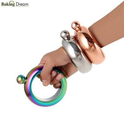 Portable Wine Beer Bangle Bracelet Hip Flasks 304 Food-Grade Stainless Steel