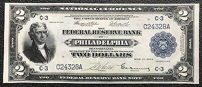 $2 Series Of 1918 Federal Reserve Bank Note / Battleship / Tehee & Burke