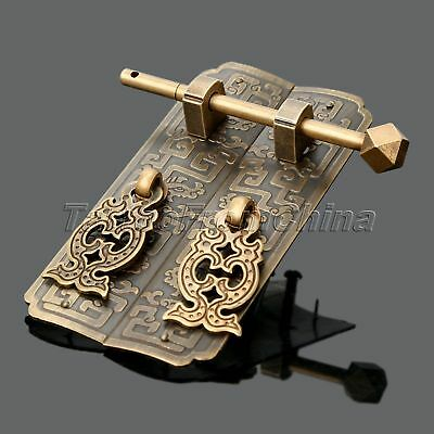 1pc Brass Chinese Cabinet Lock Door Knocker Pull Latch Handle Furniture Hardware