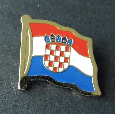 Croatia National Country World Flag Lapel Pin Badge 1 Inch