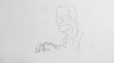 The Simpsons Homer Simpson Production Drawing Cel Cell Animation Art