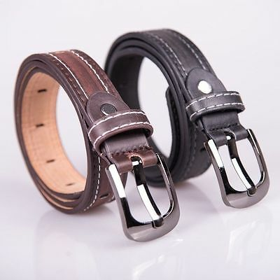 Kid Students Uniform Dress Belt Faux Leather  Pin Buckle Waist Strap AU Stock