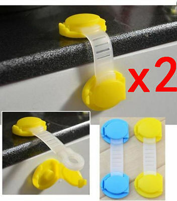 2PCS Baby Child Drawer Cabinet Lock Short Style Safety Lock Baby Safe Protector