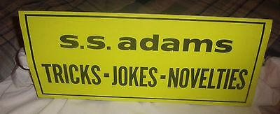 S.S.ADAMS 1970's SIGN / MINT / PRANKS, MAGIC, VINTAGE SIGNS, RETRO, POP CULTURE