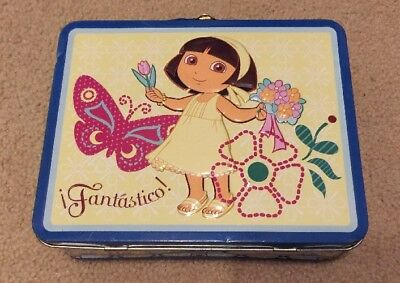 Dora The Explorer Tin Lunch Box With Carrying Handle