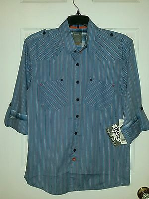 NWT $40 Boy's Drill Clothing Co. Long Sleeve Shirt  L YOUTH 14-16