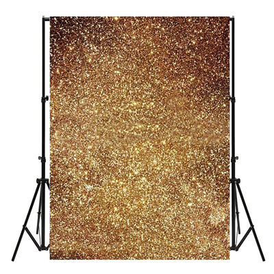 3X5ft Golden Glitter Thin Background Photography Photo Backdrop Studio Prop