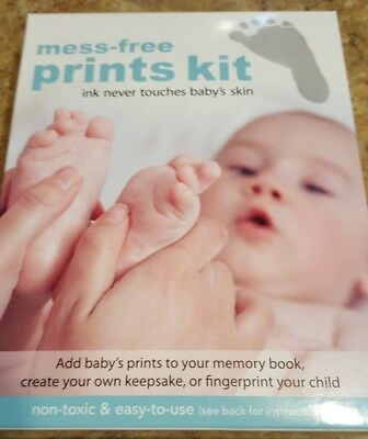 """Mess Free Prints Kit Baby Foot or Hand Prints Kit by Stepping Stone """"Free Ship"""""""
