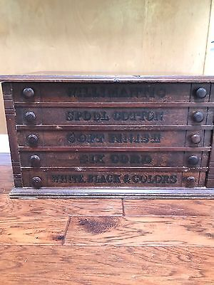 Vintage Willimantic 5 Drawer Spool Chest