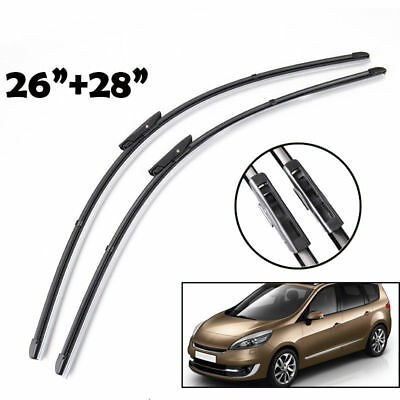 "Pair of Front Windscreen Flat Wiper Blades For Renault Scenic /Grand MK3 28""26"""