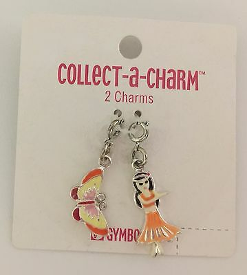 Gymboree Charm Bracelet Jewelry NEW Tropical Paradise Butterfly Butterflies Hula