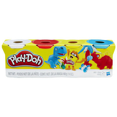 Play-Doh 4 Pack Of Colors - Assorted - NEW