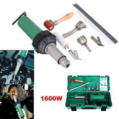 Max Power 1600W Hot Air/Hot Gas Plastic Welder Welding Gun with PE & PVC rods