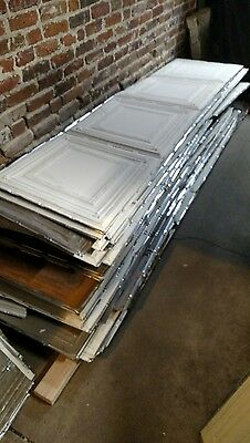 Antique Rolled Tin Ceiling Tile RARE  2' x 8' sheets Historical 800 sq. ft. PLUS