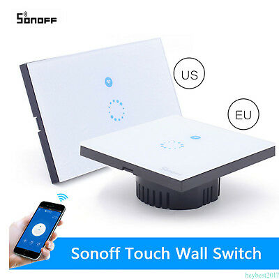 Wall Mounted Sensitive Touch Glass Panel LED Light Dimmer Controller Switch WIFI