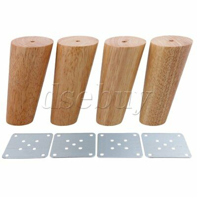 4 Pieces 12cm Height Oblique Tapered Wood Furniture Legs Sofa Feet BQLZR