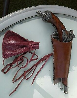 Replica pistol with holster and powder bag