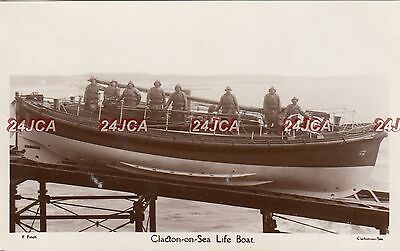 English Real Photo. Clacton On Sea Lifeboat. Essex. Fine!  F. Finch. c 1920s
