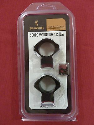"BROWNING scope mounts  alloy 1"" medium to suit BROWNING A-BOLT 11"