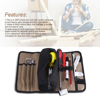 Durable Waterproof Bag Canvas Electrician Roll Up Hardware Tool Bags Storage BT